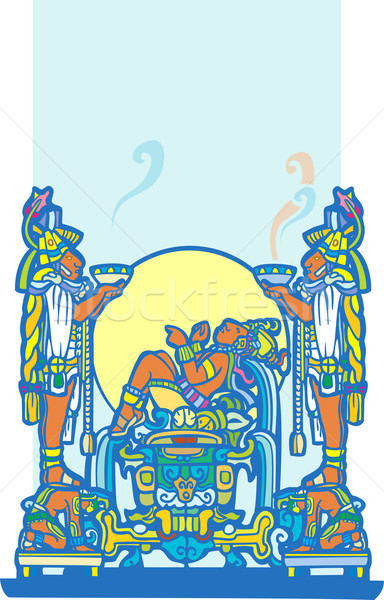 Reclining Maya 4 Stock photo © xochicalco