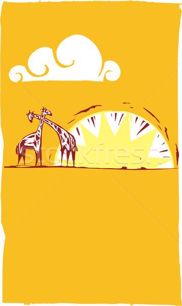 Safari Scene #2 Stock photo © xochicalco