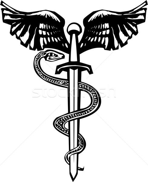 Winged sword and Snake Stock photo © xochicalco