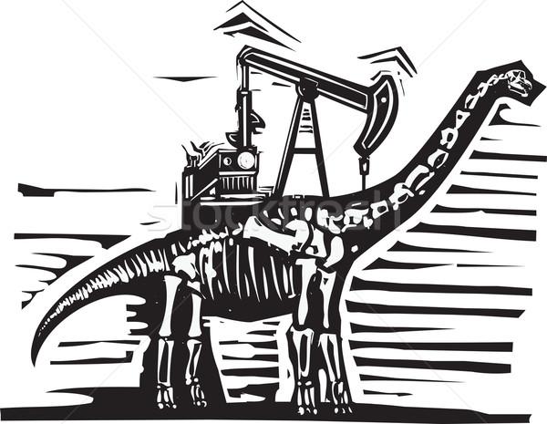 Olajkút pumpa stílus kép kövület dinoszaurusz Stock fotó © xochicalco