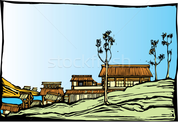 Japanese Village Stock photo © xochicalco