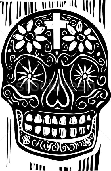 Day of the Dead Skull Stock photo © xochicalco
