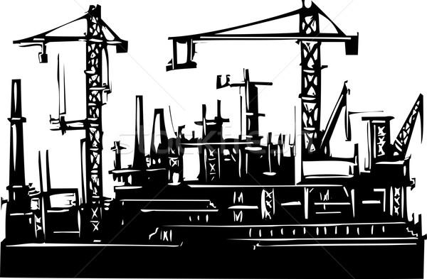 стиль изображение океана порта промышленности построить Сток-фото © xochicalco