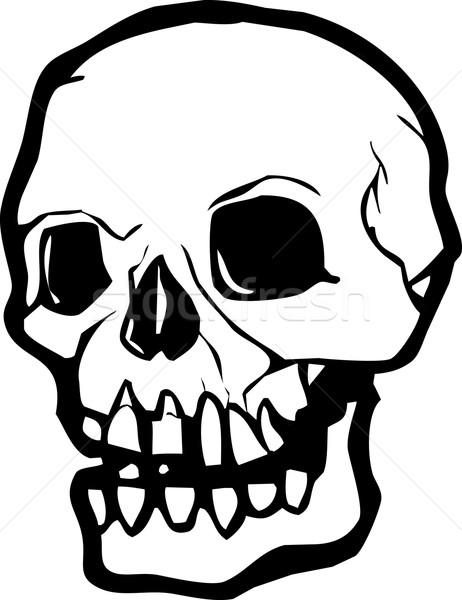 人間 頭蓋骨 単純な ベクトル スタイル 黒白 ストックフォト © xochicalco