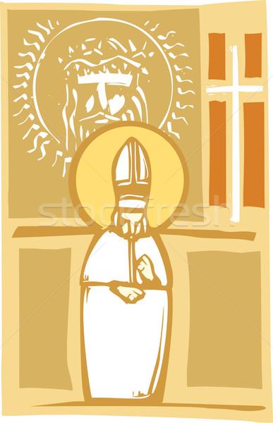 папа христианской стиль изображение католический Сток-фото © xochicalco