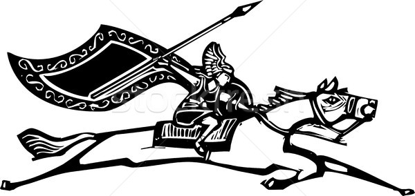 Valkyrie on Horse Stock photo © xochicalco