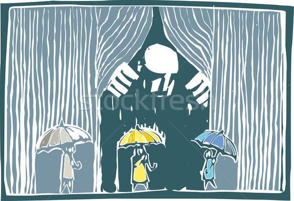 Kurtyny deszcz kolor stylu obraz gigant Zdjęcia stock © xochicalco