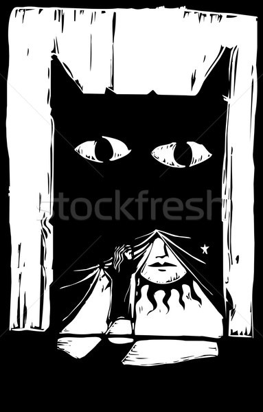 Monster Curtain Stock photo © xochicalco