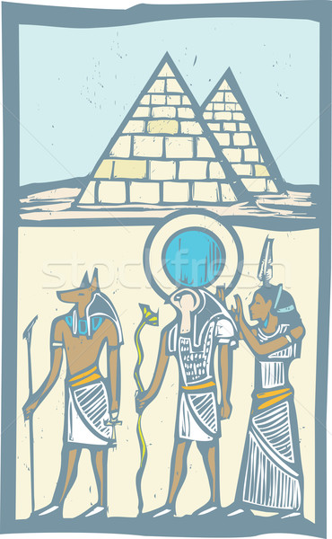 Hieroglyph Pyramids Stock photo © xochicalco