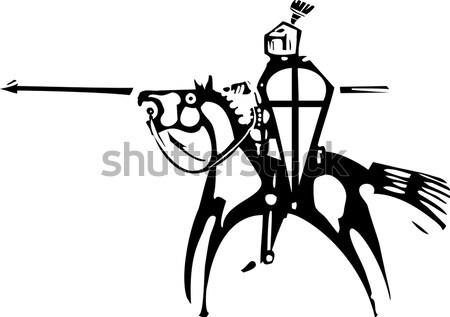 дуэль стиль изображение двое мужчин один Сток-фото © xochicalco