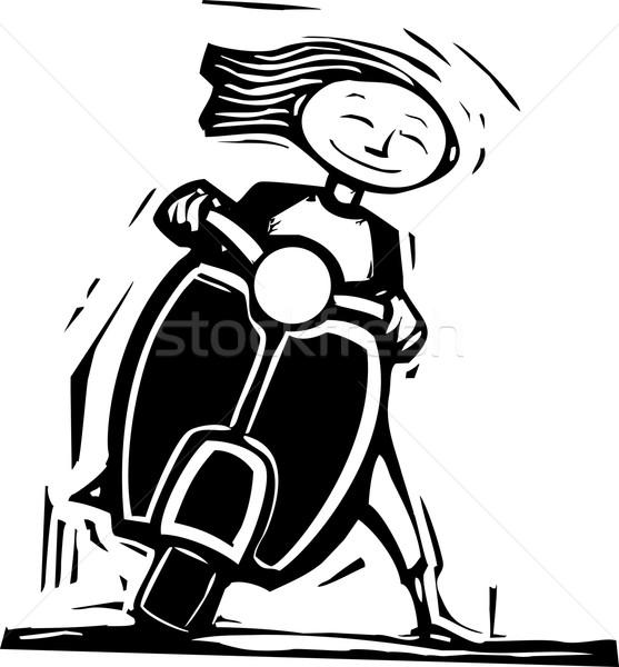 スクーター 楽しい 画像 少女 1 ストックフォト © xochicalco