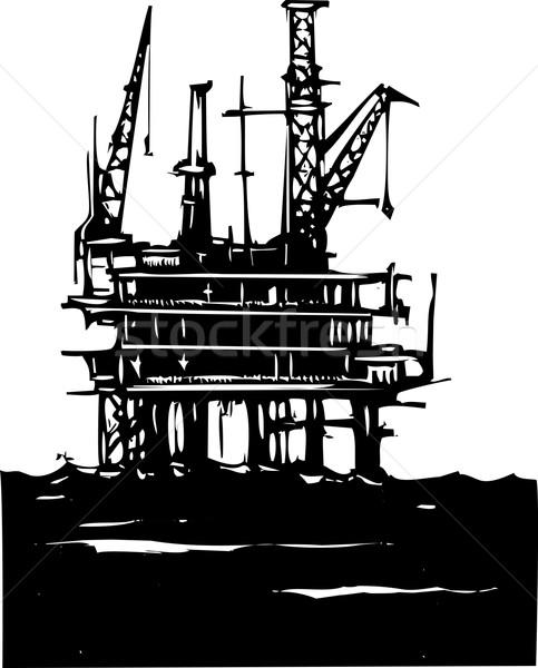 Offshore Oil Rig Stock photo © xochicalco