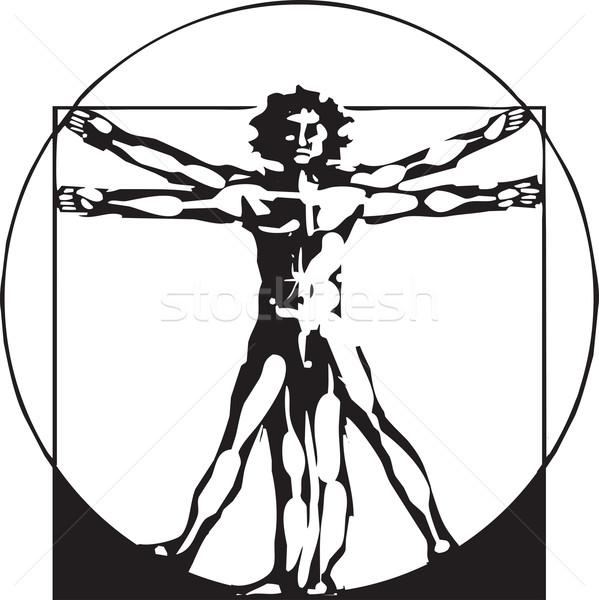 Da Vinci Vitruvian Man Stock photo © xochicalco
