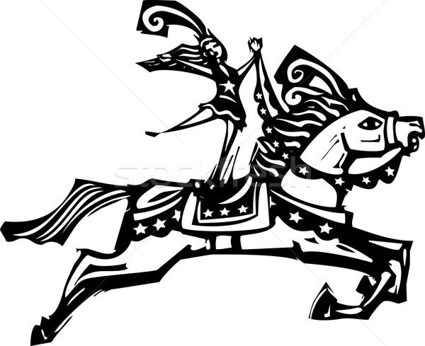 Cyrku konia stylu ekspresjonista obraz Zdjęcia stock © xochicalco