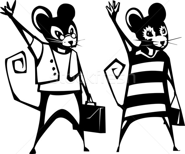 Mouse Business Couple Stock photo © xochicalco