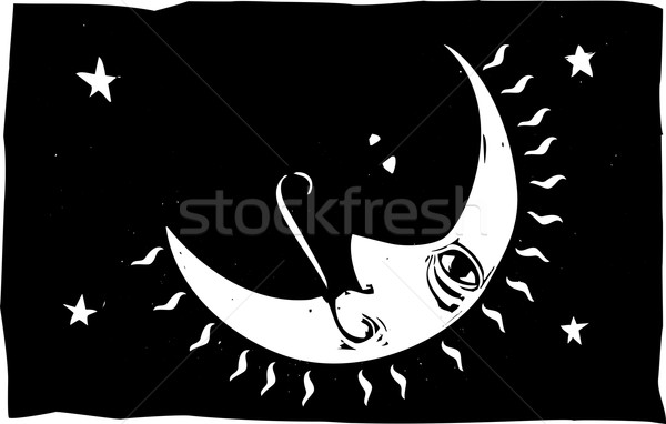 простой изображение лице ночное небо небе Сток-фото © xochicalco