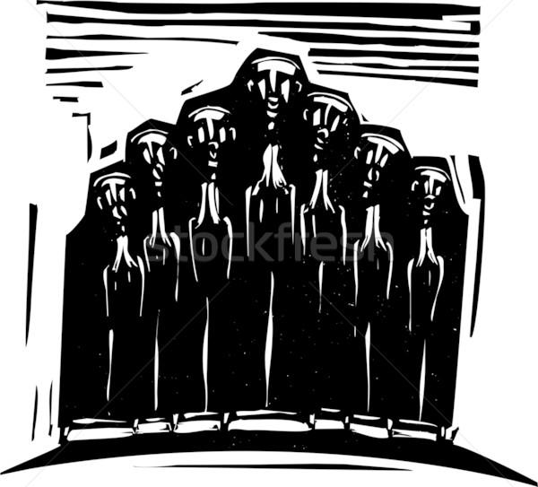 Ortodoxo coro expresionista estilo imagen religiosas Foto stock © xochicalco