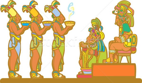 Mayan Court Stock photo © xochicalco