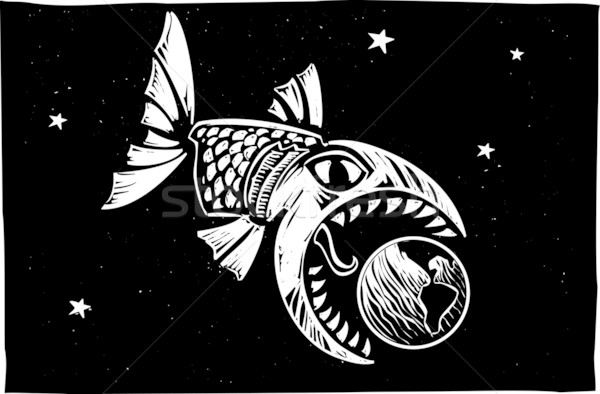 Stock photo: Fish Eating Earth