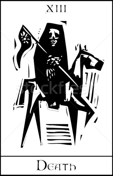 Death Tarot Card Stock photo © xochicalco