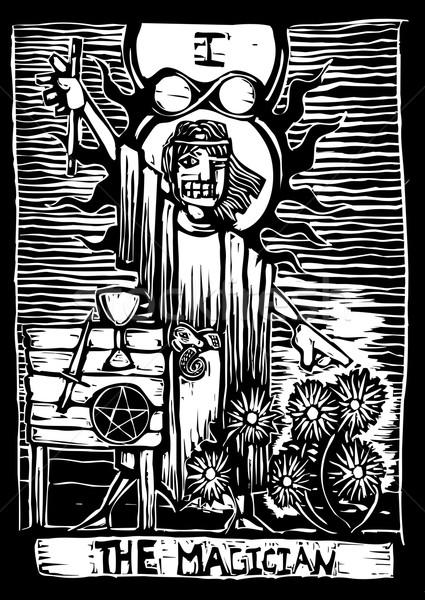 Büyücü ikinci görüntü tarot kart güverte Stok fotoğraf © xochicalco