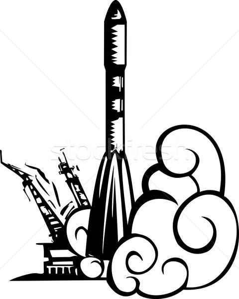 Russisch raket stijl afbeelding sovjet- Stockfoto © xochicalco