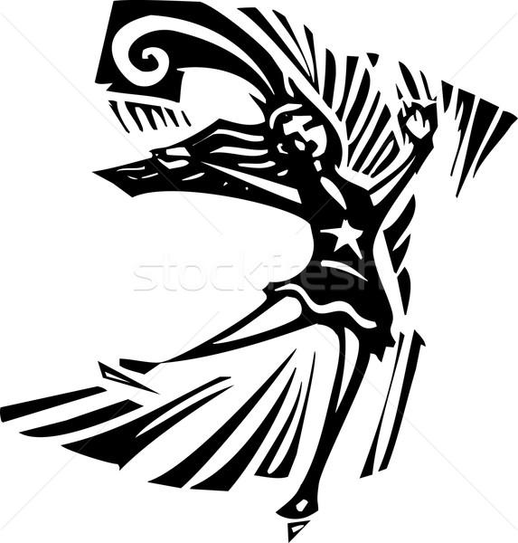 Рисунок фигурист стиль экспрессионист изображение женщину Сток-фото © xochicalco