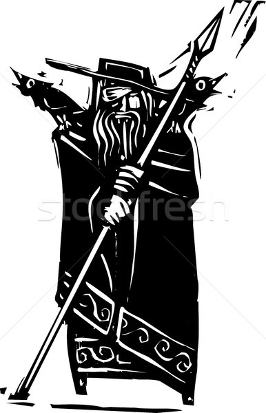 Norse God Odin Stock photo © xochicalco