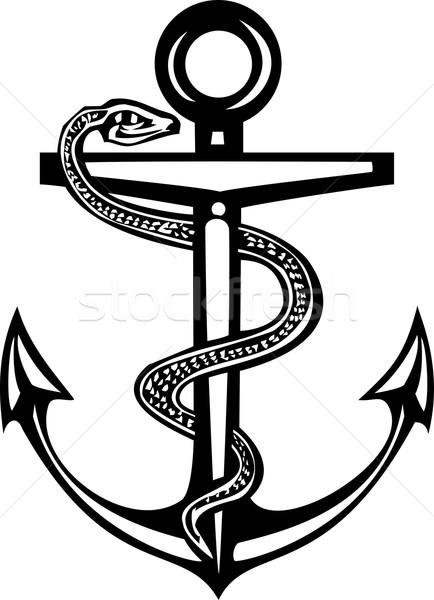 âncora estilo mar médico oceano barco Foto stock © xochicalco
