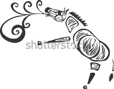 Zèbre troupeau zèbres simple nature Photo stock © xochicalco