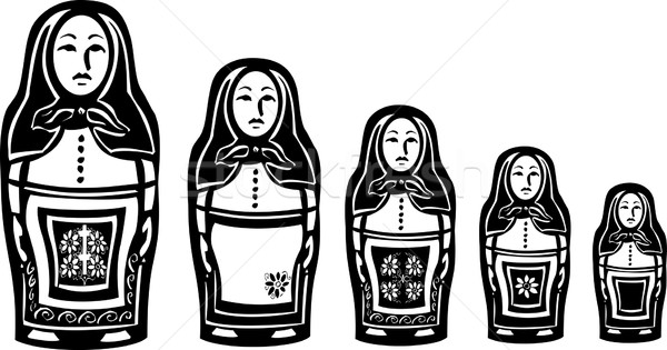 Several Russian Nested Dolls Stock photo © xochicalco