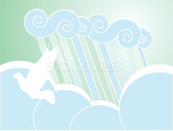 Stock fotó: Puha · béke · eső · színes · asztali · felhők