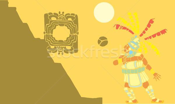 Mayan Ballgame A Stock photo © xochicalco