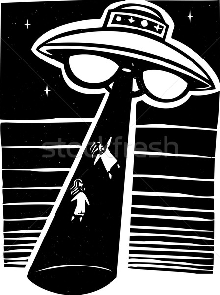 Alien Abduction Night Stock photo © xochicalco