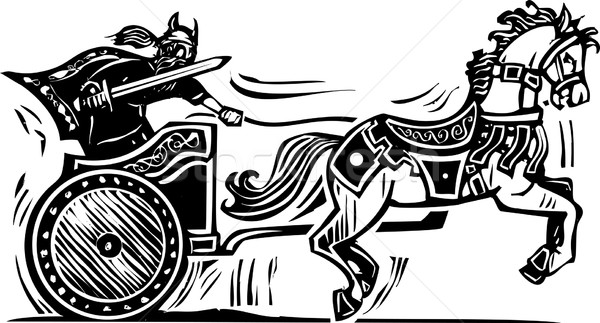 Viking Chariot Stock photo © xochicalco