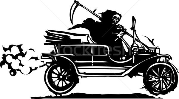 Dood oldtimer stijl expressionistische afbeelding grimmig Stockfoto © xochicalco