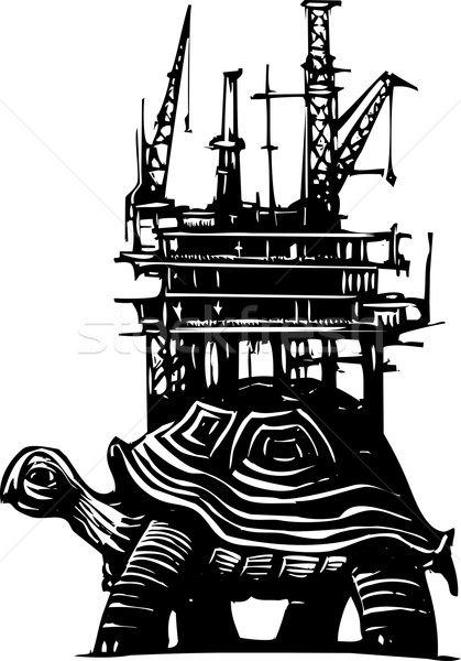 черепахи буровая стиль нефть Сток-фото © xochicalco