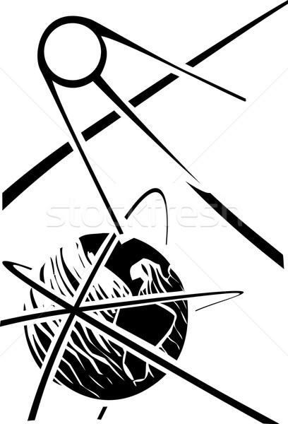 Sputnik over Earth Stock photo © xochicalco
