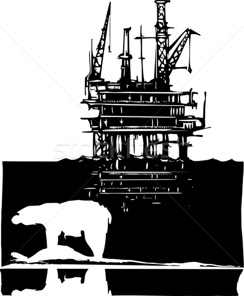 Arctic Drilling Stock photo © xochicalco