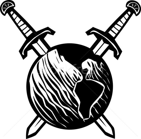 Crossed Swords Earth Stock photo © xochicalco