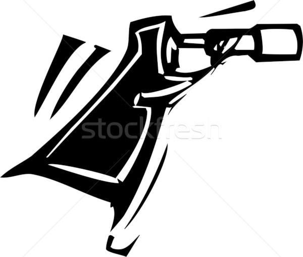Espião vidro expressionista estilo imagem telescópio Foto stock © xochicalco
