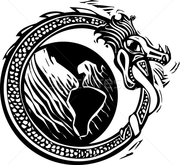 Midgard Serpent and Earth Stock photo © xochicalco