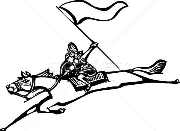Valkyrie with Flag Stock photo © xochicalco