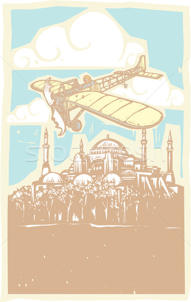 Hagia Sophia Airplane Day Stock photo © xochicalco
