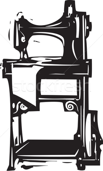 Vintage Singer Sewing Machine Stock photo © xochicalco