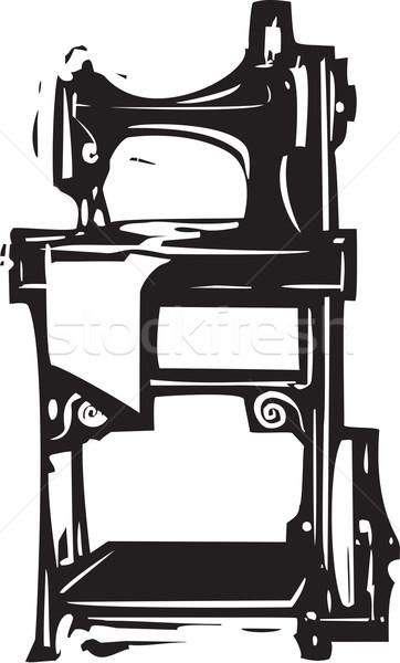 Vintage cantora máquina de costura estilo imagem roupa Foto stock © xochicalco