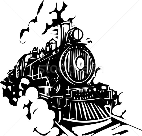 Woodcut Locomotive Stock photo © xochicalco