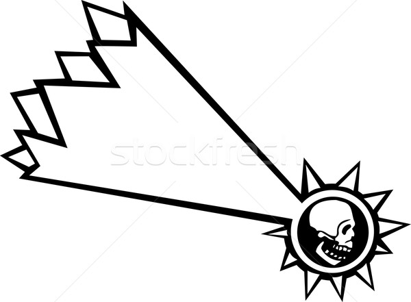 Vallende ster schedel vallen star menselijke Stockfoto © xochicalco