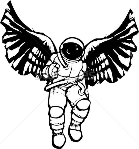 астронавт ангела стиль изображение пространстве костюм Сток-фото © xochicalco