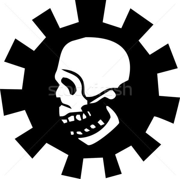 Artes cráneo humanos halo mecánico dientes Foto stock © xochicalco
